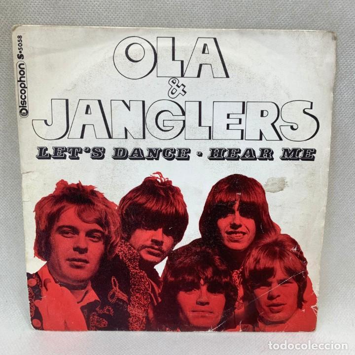SINGLE OLA & JANGLERS - LET'S DANCE / HEAR ME - ESPAÑA - AÑO 1969 (Música - Discos - Singles Vinilo - Pop - Rock Internacional de los 50 y 60)