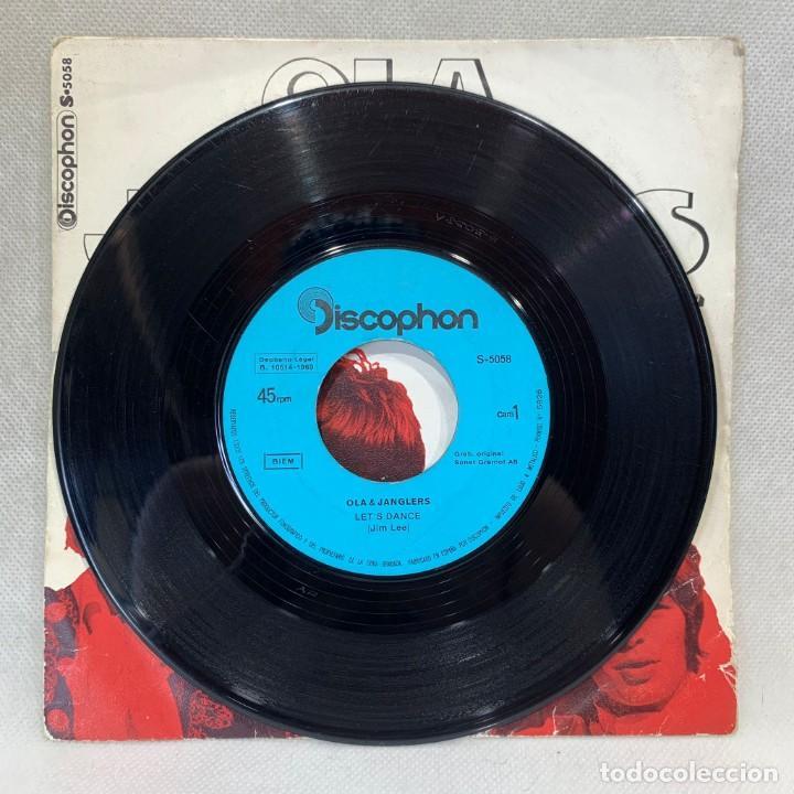 Discos de vinilo: SINGLE OLA & JANGLERS - LETS DANCE / HEAR ME - ESPAÑA - AÑO 1969 - Foto 3 - 269045503