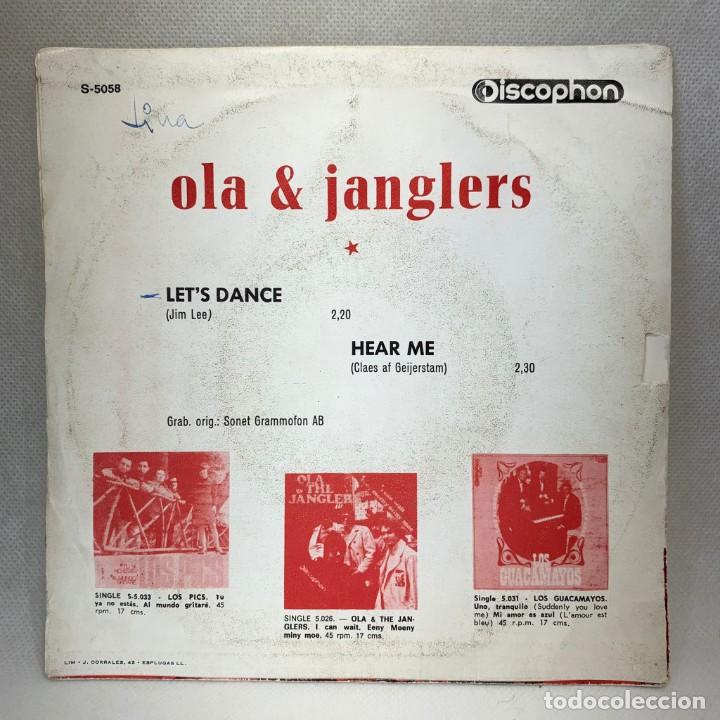 Discos de vinilo: SINGLE OLA & JANGLERS - LETS DANCE / HEAR ME - ESPAÑA - AÑO 1969 - Foto 4 - 269045503