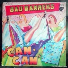 Discos de vinilo: BAD MANNERS – CAN CAN / ARMCHAIR DISCO SPAIN SKA. Lote 269047943