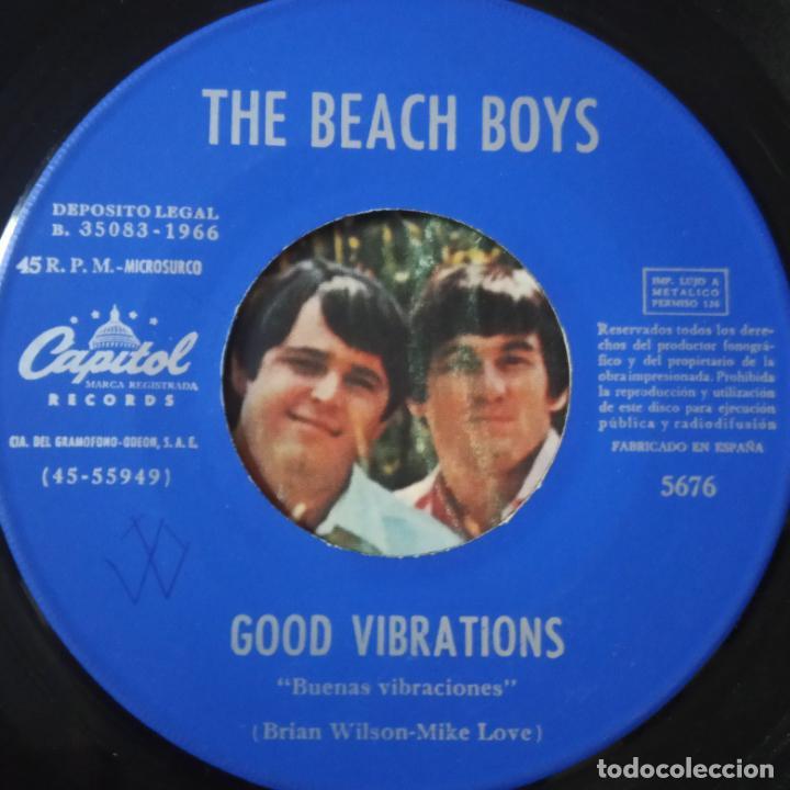 Discos de vinilo: THE BEACH BOYS - GOOD VIBRATIONS- SPAIN SINGLE 1966. - Foto 2 - 269048168