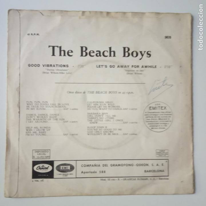 Discos de vinilo: THE BEACH BOYS - GOOD VIBRATIONS- SPAIN SINGLE 1966. - Foto 3 - 269048168