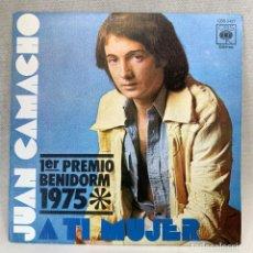 Discos de vinilo: SINGLE JUAN CAMACHO - A TI MUJER - ESPAÑA - AÑO 1975. Lote 269049643