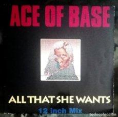 Discos de vinilo: ACE OF BASE – ALL THAT SHE WANTS EUROPE 1992 4 TEMAS. Lote 269049918