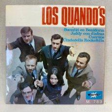 Discos de vinilo: SINGLE LOS QUANDO'S - SUCEDIÓ EN BENIDORM - ESPAÑA - AÑO 1968. Lote 269051483