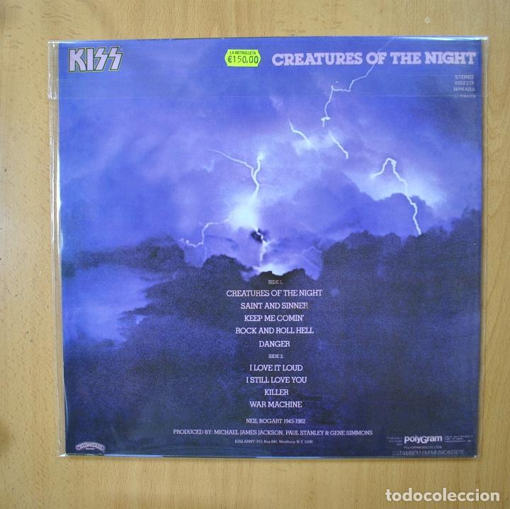 Discos de vinilo: KISS - CREATURES OF THE NIGHT - ED. BRASIL - VINILO VERDE - LP - Foto 2 - 269052913