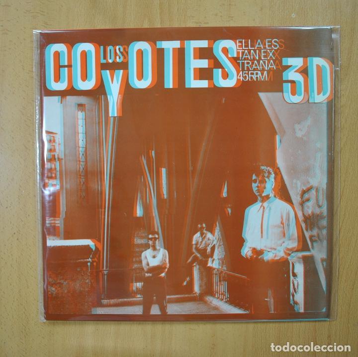 LOS COYOTES - ELLA ES TAN EXTRAÑA - CONTIENE GAFAS - MAXI (Música - Discos de Vinilo - Maxi Singles - Grupos Españoles de los 70 y 80)