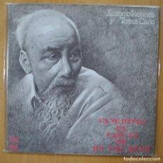 Discos de vinilo: ANTONIO RESINES Y TERESA CANO - CANCIONES DE CARCEL DE HO CHI MINH - GATEFOLD - LP. Lote 269054748