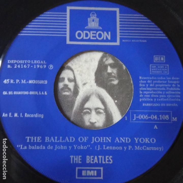Discos de vinilo: THE BEATLES- THE BALLAD OF JOHN AND YOKO- SPAIN SINGLE 1969. - Foto 2 - 269056268