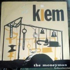 Discos de vinilo: KIEM – THE MONEYMAN NETHERLANDS 1986 SYNTH-POP, EXPERIMENTAL. Lote 269058648