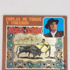 Discos de vinilo: MANOLO ESCOBAR. COPLAS DE TOROS Y TOREROS. BELTER. Lote 269059023