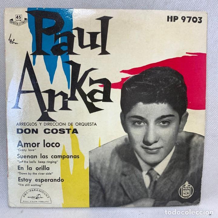 SINGLE PAUL ANKA - AMOR LOCO - ESPAÑA - AÑO 1959 (Música - Discos - Singles Vinilo - Pop - Rock Internacional de los 50 y 60)
