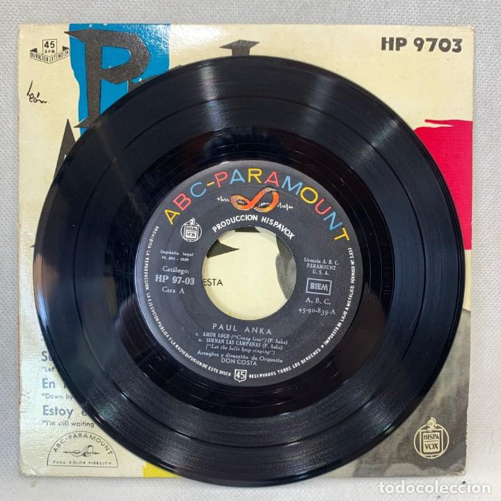 Discos de vinilo: SINGLE PAUL ANKA - AMOR LOCO - ESPAÑA - AÑO 1959 - Foto 3 - 269059038