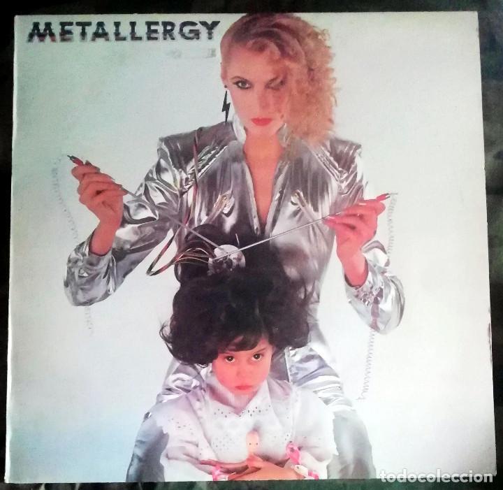 METALLERGY LP, COMPILATION UK 1980 WIDOWMAKER,QUARTZ PROD TONY IOMMI ,MAGNUM,BERNIE TORME (Música - Discos - LP Vinilo - Heavy - Metal)