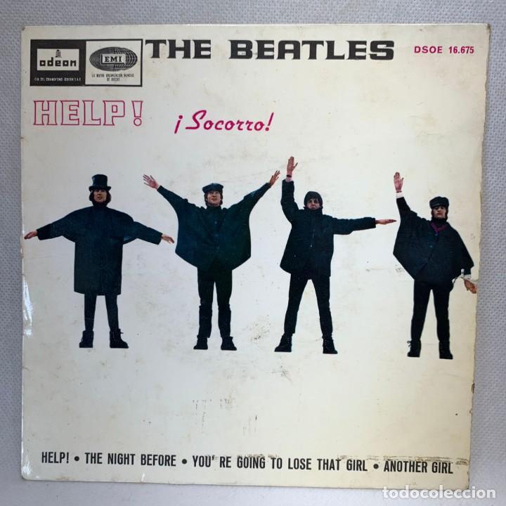 SINGLE THE BEATLES - HELP / SOCORRO- ESPAÑA - AÑO 1965 (Música - Discos - Singles Vinilo - Pop - Rock Internacional de los 50 y 60)