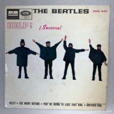 Discos de vinilo: SINGLE THE BEATLES - HELP / SOCORRO- ESPAÑA - AÑO 1965. Lote 269059708