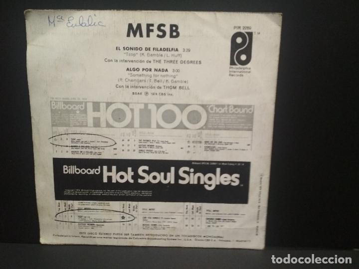 Discos de vinilo: MFSB - El sonido de Filadelfia / single Algo por nada. editado por CBS. año 1.974 pepeto - Foto 2 - 269070953