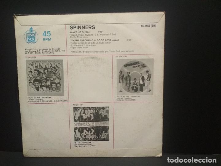 Discos de vinilo: SPINNERS WAKE UP SUSAN SINGLE SPAIN 1977 PEPETO - Foto 2 - 269073463