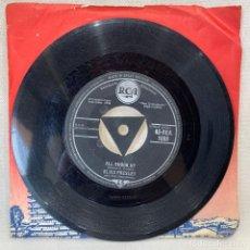 Discos de vinilo: SINGLE ELVIS PRESLEY WITH THE JORDANAIRES - ALL SHOOK UP - UK - AÑO 1958. Lote 269074263