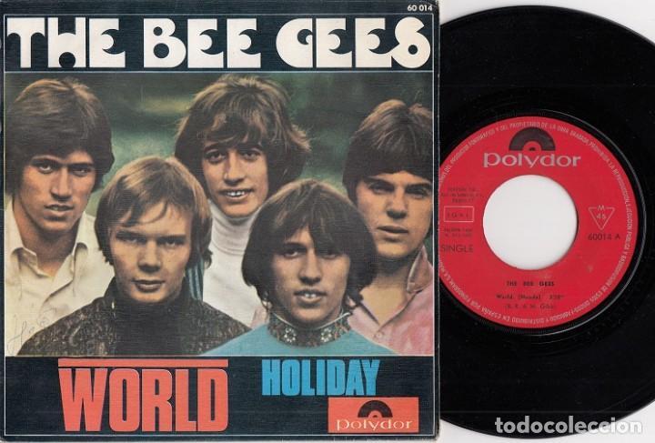 THE BEE GESS - WORLD - SINGLE DE VINILO EDICION ESPAÑOLA (Música - Discos - Singles Vinilo - Pop - Rock Internacional de los 50 y 60)