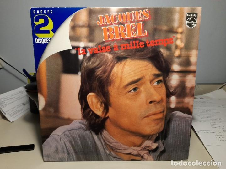 DOBLE LP JACQUES BREL : LE VALSE A MILLE TEMPS ( 24 CANCIONES ) NUEVO, SIN USO (Música - Discos - LP Vinilo - Canción Francesa e Italiana)