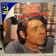 Discos de vinilo: DOBLE LP JACQUES BREL : LE VALSE A MILLE TEMPS ( 24 CANCIONES ) NUEVO, SIN USO. Lote 269079063