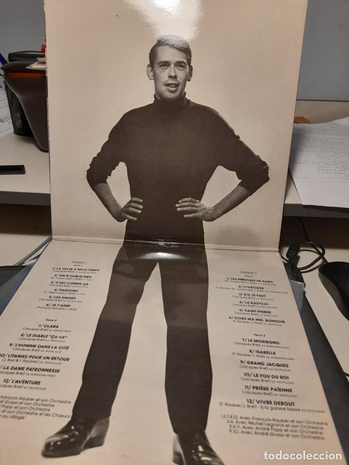 Discos de vinilo: DOBLE LP JACQUES BREL : LE VALSE A MILLE TEMPS ( 24 CANCIONES ) NUEVO, SIN USO - Foto 2 - 269079063