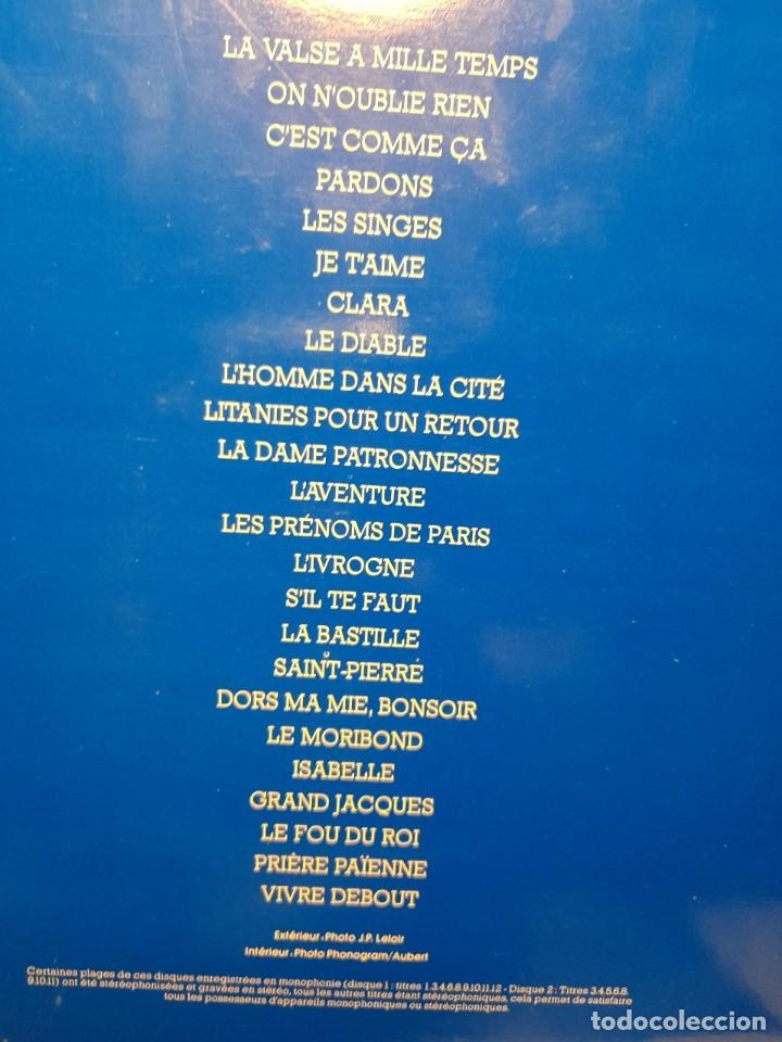 Discos de vinilo: DOBLE LP JACQUES BREL : LE VALSE A MILLE TEMPS ( 24 CANCIONES ) NUEVO, SIN USO - Foto 4 - 269079063