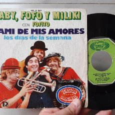 Disques de vinyle: ANTIGUO DISCO DE VINILO SINGLE LOS PAYASOS DE LA TELE GABY FOFO MILIKI FOFITO MAMI DE MIS AMORES. Lote 269080013