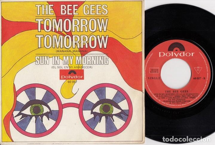 THE BEE GESS - TOMORROW TOMORROW - SINGLE DE VINILO EDICION ESPAÑOLA (Música - Discos - Singles Vinilo - Pop - Rock Internacional de los 50 y 60)