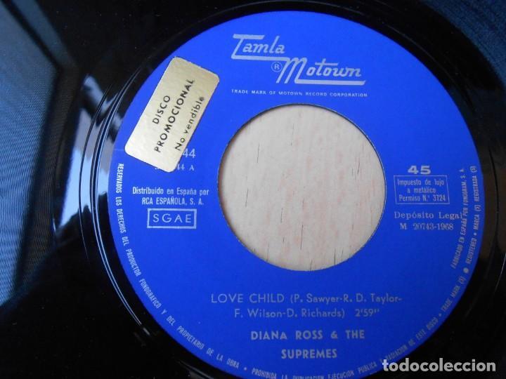 Discos de vinilo: DIANA ROSS & THE SUPREMES, SG, LOVE CHILD + 1, AÑO 1968 - Foto 3 - 269081293