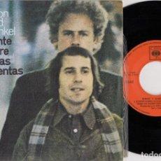 Discos de vinilo: SIMON & GARFUNKEL - PUENTE SOBRE AGUAS TURBULENTAS - SINGLE DE VINILO EDICION ESPAÑOLA. Lote 269082723