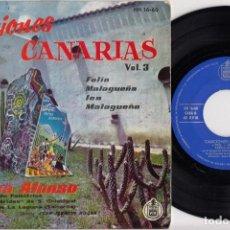 Discos de vinilo: AFRICA ALONSO Y LA REAL ESPERIDES DE SAN CRISTOBAL - FOLIAS -- EP DE VINILO FOLKLORE DE CANARIAS. Lote 269092673