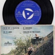 Discos de vinilo: MARY SANCHEZ Y LOS BANDAMA - YO NO VOY A CALATAYUD -- EP DE VINILO FOLKLORE DE CANARIAS. Lote 269092828