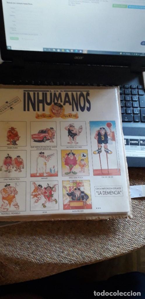 CARATULA SIN DISCO INHUMANOS (Música - Discos - LP Vinilo - Otros estilos)