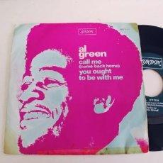 Discos de vinilo: AL GREEN-SINGLE CALL ME. Lote 269093833