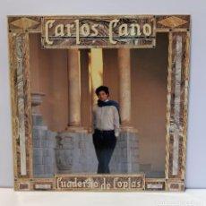Discos de vinilo: CARLOS CANO - CUADERNO DE COPLAS. VINILO (LP, ALBUM). CCM2. Lote 269121313