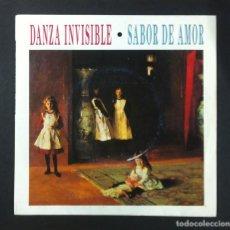 Dischi in vinile: DANZA INVISIBLE - SABOR DE AMOR / MI CIUDAD ES UNA CHICA DE AHORA - SINGLE 1988 - TWINS. Lote 269143073