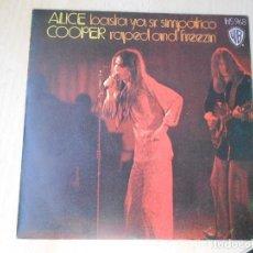 Dischi in vinile: ALICE COOPER, SG, BASTA YA SR. SIMPATICO + 1, AÑO 1973. Lote 269148058