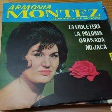 Discos de vinilo: DISCO VINILO SINGLE ARMONIA MONTEZ. Lote 269159248
