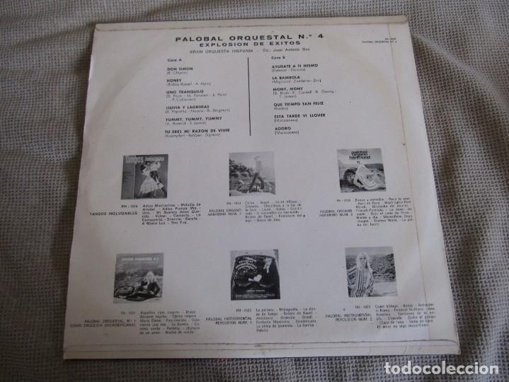 Discos de vinilo: Palobal Orquestal Nº 4 - Explosion de Exitos - Gran Orquesta Hispania LP - Foto 2 - 269167723
