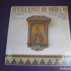 Discos de vinilo: SEVILLANAS DE ORO - VOL 16 - DOBLE LP HISPAVOX 1986 - MARISMEÑOS - EL PALI - CANTORES HISPALIS - ETC. Lote 269170073