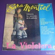 Discos de vinilo: SARA MONTIEL - BSO LA VIOLETERA - LP HISPAVOX - LEVE USO - CANCION ESPAÑOLA - COPLA CUPLE CINE. Lote 269170173