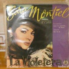 Discos de vinilo: DISCO 7 PULGADAS ESTADO DECENTE SARA MONTIEL LA VIOLETERA EP 1962. Lote 269173858