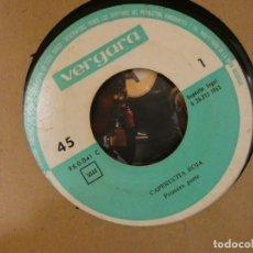 Discos de vinilo: DISCO 7 PULGADAS ESTADO DECENTE CUENTO CAPERUCITA ROJA 1968. Lote 269174873