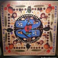 Discos de vinilo: NO ME PISES QUE LLEVO CHANCLAS ESTAMOS MU CONTENTOS LP VINILO MANO NEGRA RECORDS 1991-ESPA -POP ROCK. Lote 269189948