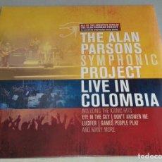 Discos de vinilo: THE ALAN PARSONS PROJECT SYMPHONIC-LP TRIPLE-LIVE IN COLOMBIA- DISCO DE VINILO PRESCINTADO. Lote 269204558