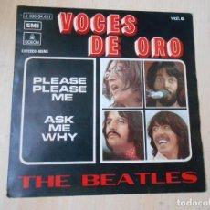Discos de vinilo: BEATLES, THE - VOCES DE ORO -, SG, PLEASE PLEASE ME + 1, AÑO 1963. Lote 269205768