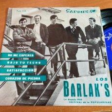 Discos de vinilo: LOS BARLAK'S (SATISFACCION + 3) EP ESPAÑA 1966 COVER ROLLING STONES. ERROR NOMBRE JAGGER (EPI6). Lote 269207653