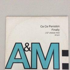 Discos de vinilo: CE CE PENISTON . FINALLY. A&M PM. Lote 269222713